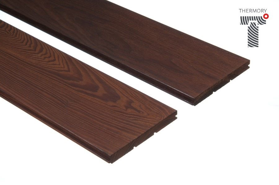 VÝPRODEJ - Podlahová palubka, thermo-jasan, olejovaný - 15x130 - 0.8