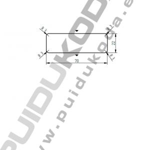 Lať, sibiřský modřín, AB – 22x70