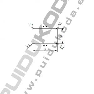 Lať ošetřená FeSO4, sibiřský modřín – 28x45