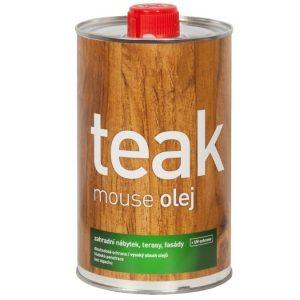 Teakový olej s UV ochranou, transparentní - 1L, Mouse oleum