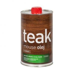 Teakový olej s UV ochranou a voskem, transparentní - 1L, Mouse oleum