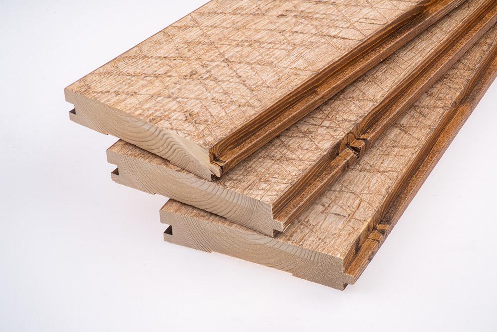 """Podlahová palubka """"Old Saw"""", brown + white, 28x145"""